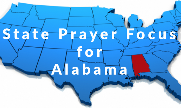 State Prayer Focus For Alabama